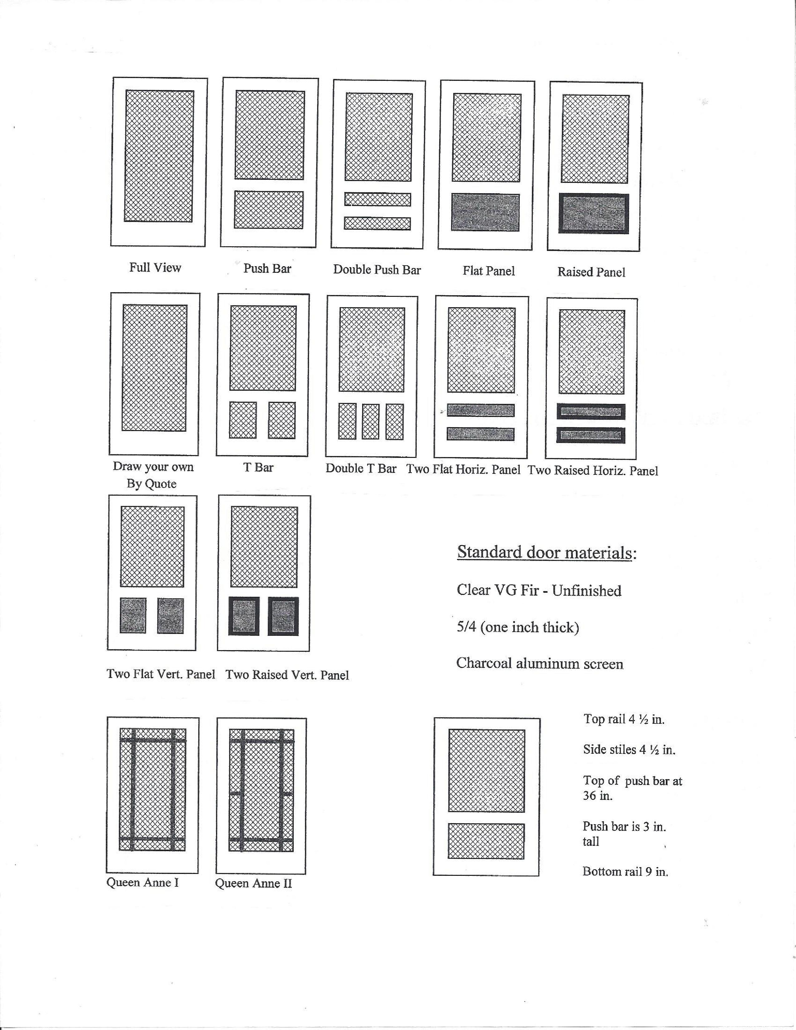 The images below are our Wood Screen Door and Storm Door brochure. Your cost is the list price.  sc 1 st  Truax Builders Supply & Wood Screen Doors u2013 Truax Builders Supply